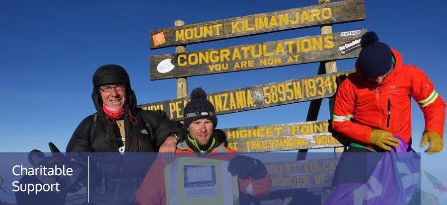 David Geddis's trek to Mount Kilimanjaro