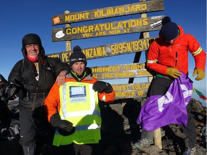 David Geddis on Mount Kilimanjaro